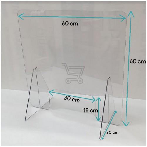 corona-toonbank-scherm 60x60x15 cm